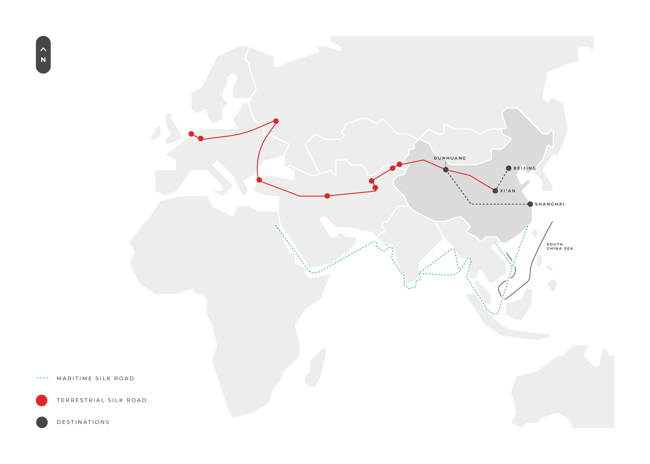 Silk Road Tour Map Essence Of China And Silk Road Gem
