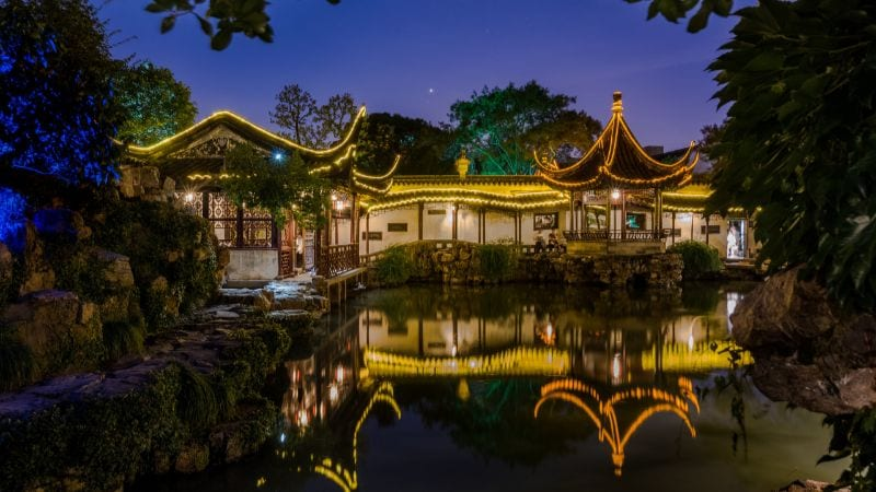 Visit Suzhou at night