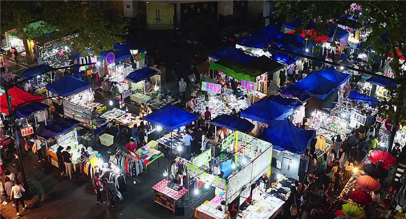 Wushan Night Market, Hangzhou shopping