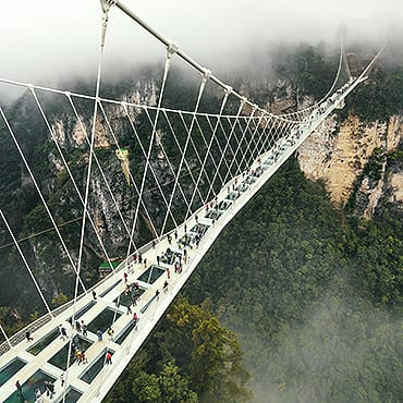 Zhangjiajie Grand Canyon + Glass Bridge + Yellow Dragon Cave Day Tour