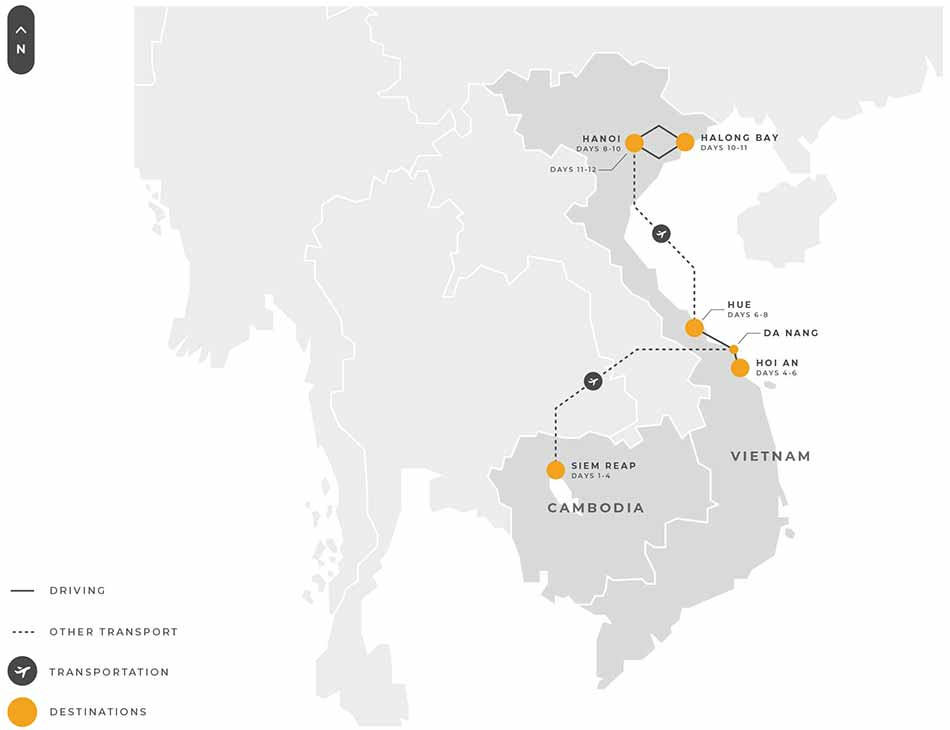 2 Indochina 12 Days Siem Reap Hoi An Da Nang Hue Hanoi