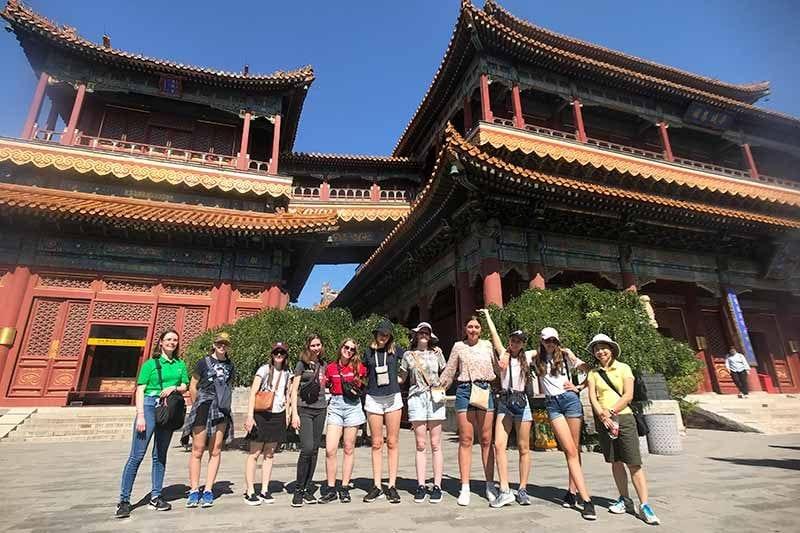 2019 China Tours Students Tour Lama Temple