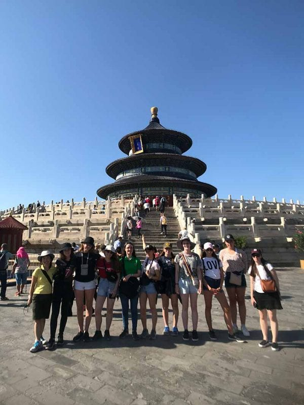 2019 China Tours Students Tour Temple Of Heaven