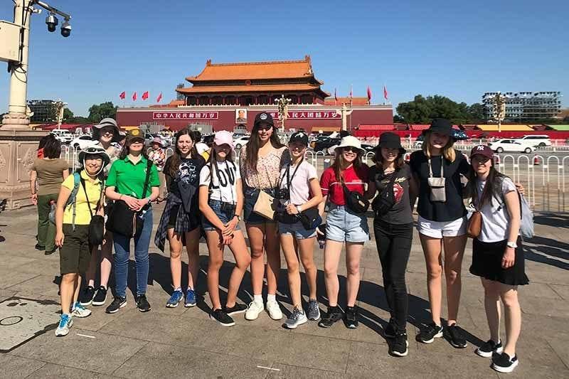 2019 China Tours Students Tour Tian An Men Square