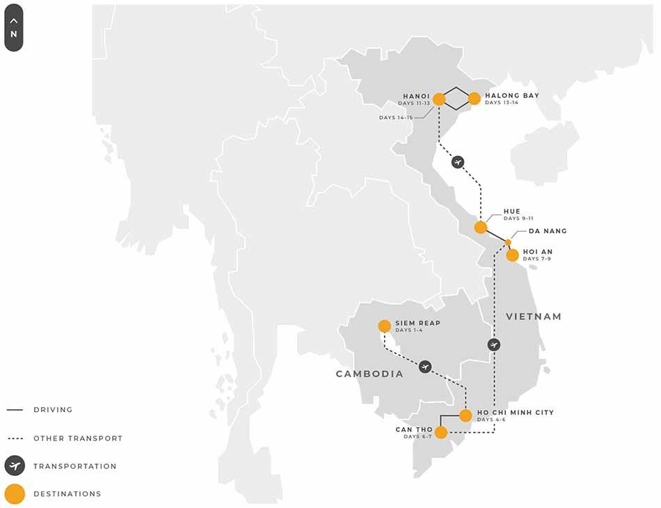 3 Indochina 15 Days Cambodia Vietnam