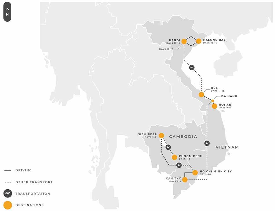 4 Indochina 17 Days Cambodia Vietnam