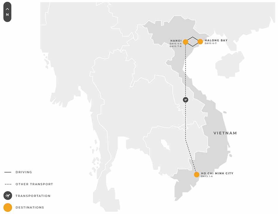 Vietnam 8 Days Hochi Minhcity Caibe Hanoi Halongbay