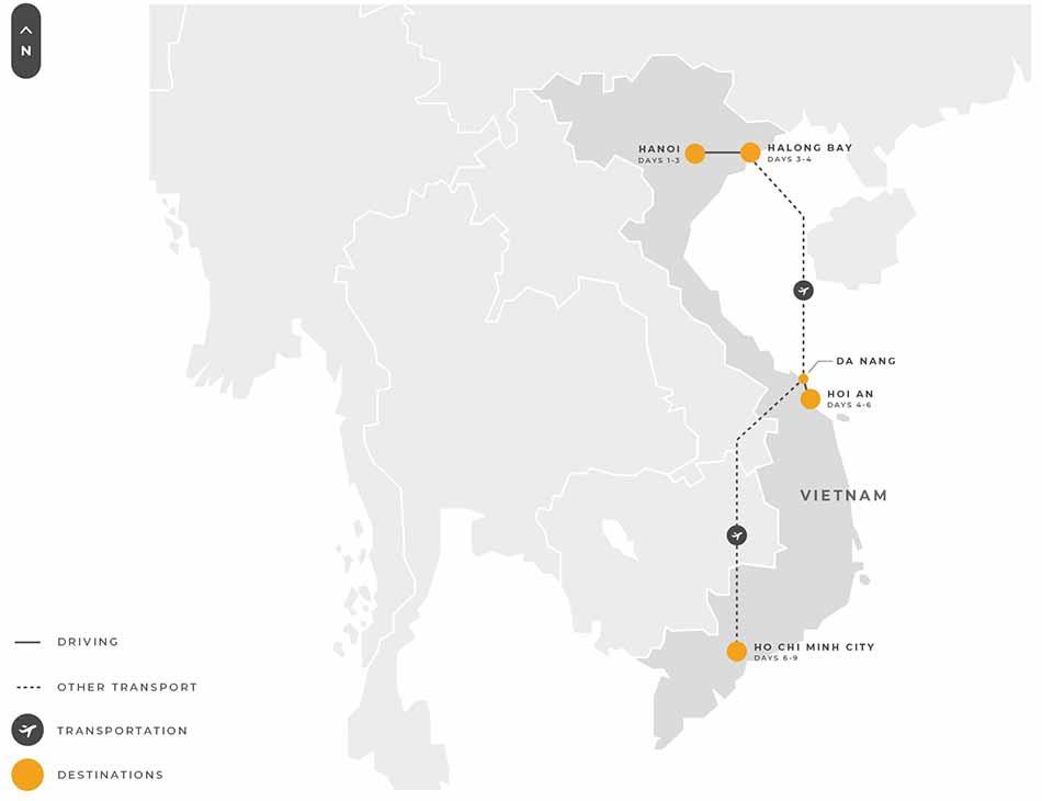Vietnam 9 Days Hanoi Halongbay Hoian Danang Hochiminh Mekongriver
