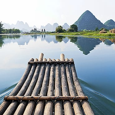 Guilin-Yangshuo Full Day Tour With Bamboo Rafting Experience