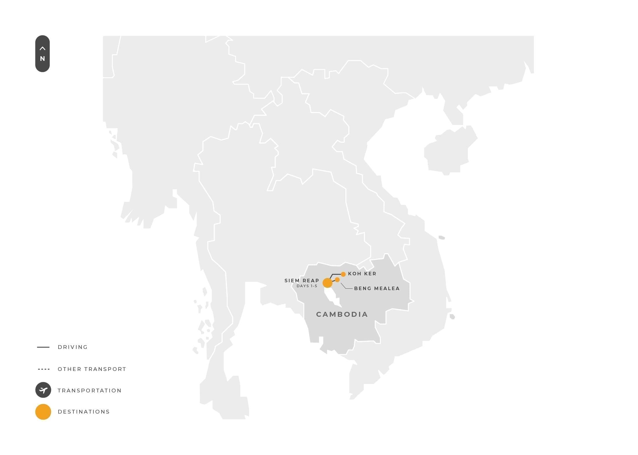Cambodia 5 Days Siemreap Kohker Bengmealea Tour