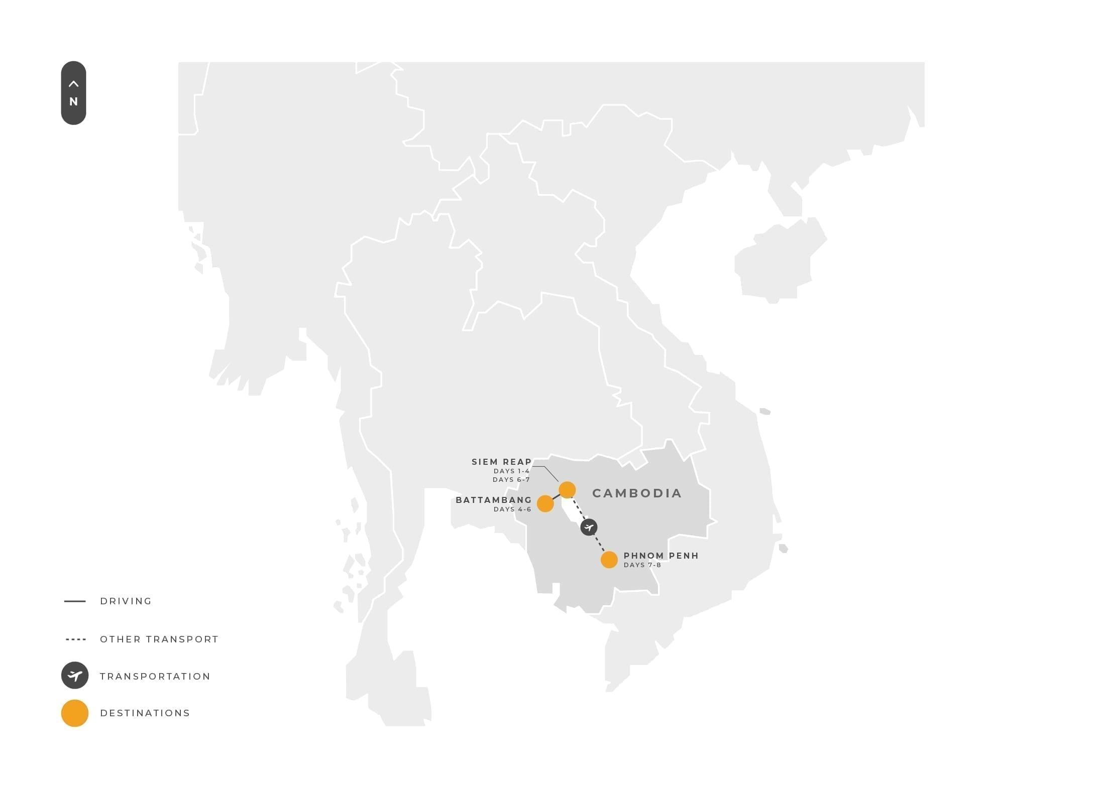 Cambodia 8 Days Siemreap Battambang And Phnompenh Tour