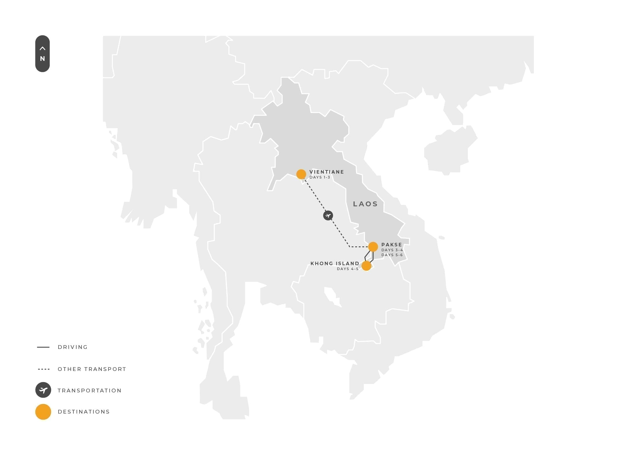 Laos 6 Days Vientiane Pakse Khongisland