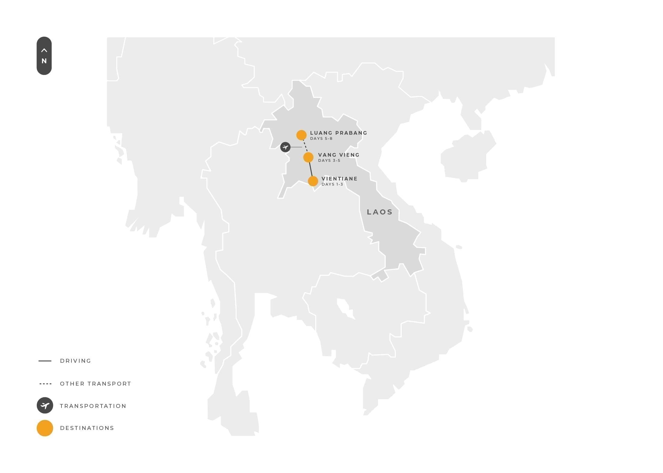 Laos 8 Days Vientiane Vangvieng Luangprabang