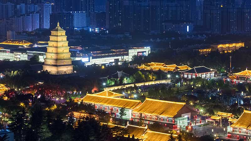 Buddhism In China Big Wild Goose Pagoda